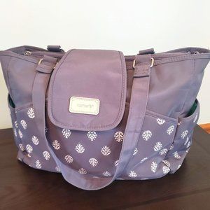 Carter's Carry It All Tote Diaper Bag Grey Teal
